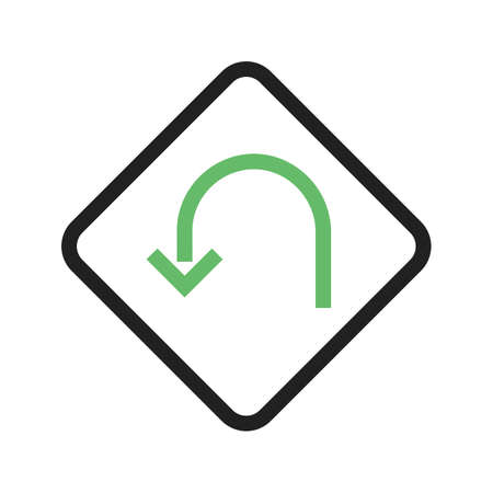 uturn: U turn, road, highway icon vectgor image. Can also be used for transport, transportation and travel. Suitable for mobile apps, web apps and print media.