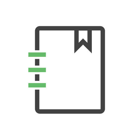 memo pad: Paper, notebook, notepad icon vector image. Can also be used for education, academics and science. Suitable for use on web apps, mobile apps, and print media. Illustration