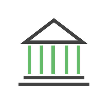 institute: Institute, building, conference icon vector image. Can also be used for education, academics and science. Suitable for use on web apps, mobile apps, and print media. Illustration