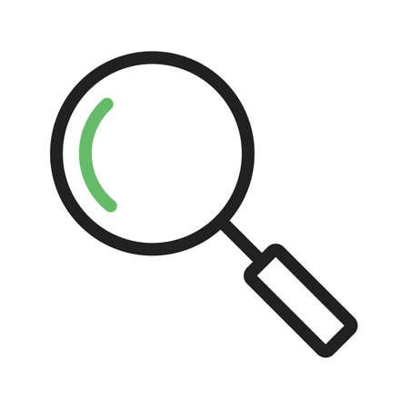 analyse: Magnifying glass, optimization, search icon vector image. Can also be used for phone tab bar and settings. Suitable for use on web apps, mobile apps and print media