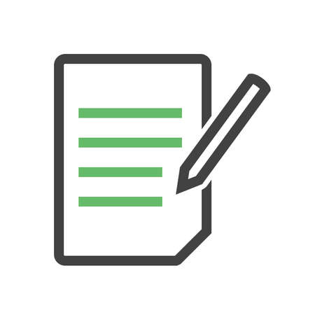 assignment: Assignment, book, education icon vector image. Can also be used for education, academics and science. Suitable for use on web apps, mobile apps, and print media.