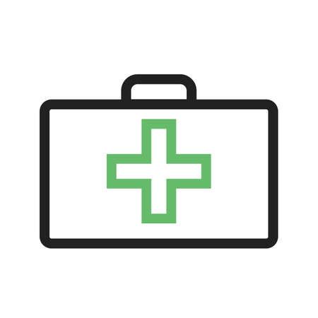 erste hilfe koffer: Erste Hilfe Kit, Box-Symbol Vektor-Bild. Kann auch f�r die Gesundheitsversorgung, medizinische und Krankenhaus verwendet werden. Geeignet f�r mobile Anwendungen, Web-Anwendungen und Printmedien.