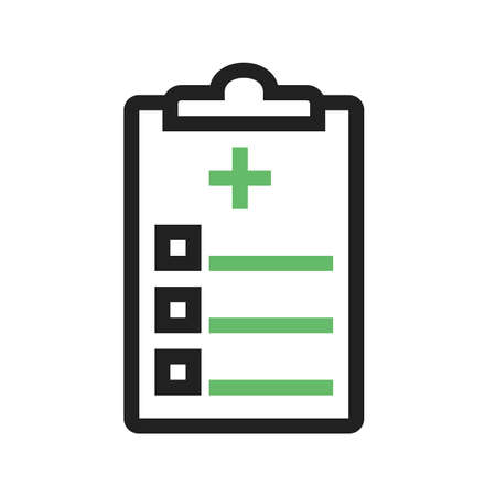medical history: Medical chart, report, medical history icon vector image. Can also be used for healthcare and medical. Suitable for mobile apps, web apps and print media.