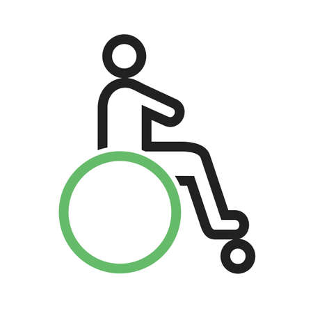 disabled person: Disabled person, paralyze icon vector image. Can also be used for healthcare and medical. Suitable for mobile apps, web apps and print media.