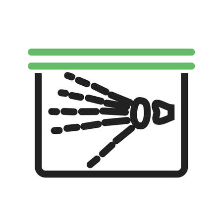 finger bones: X-ray, ray, hand, skeleton icon vector image. Can also be used for healthcare and medical. Suitable for mobile apps, web apps and print media. Illustration
