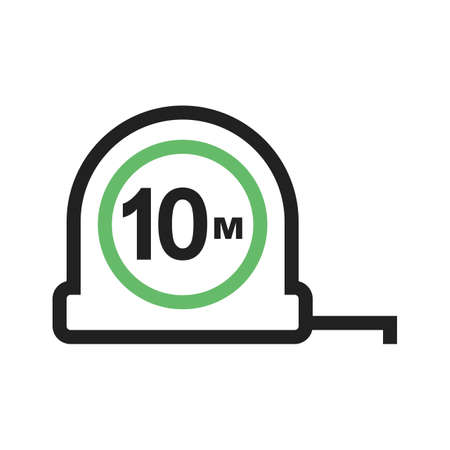 millimeters: Tape, measuring, tool icon vector image. Can also be used for construction, interiors and building. Suitable for use on web apps, mobile apps and print media.