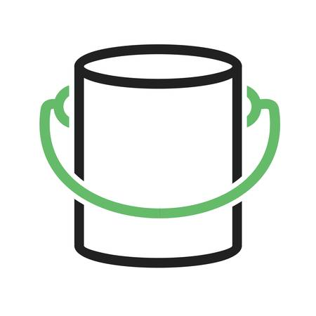 pail tank: Paint box, bucket, paint bucket icon vector image. Can also be used for construction, interiors and building. Suitable for use on web apps, mobile apps and print media.