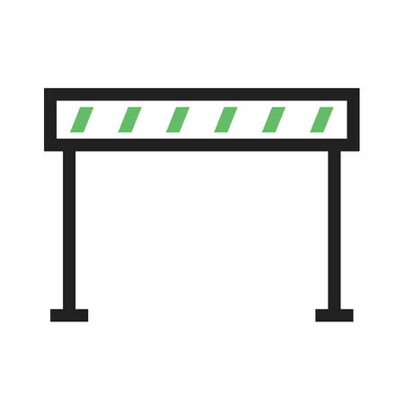 precautions: Barrier, caution, traffic icon vector image. Can also be used for construction, interiors and building. Suitable for use on web apps, mobile apps and print media. Illustration