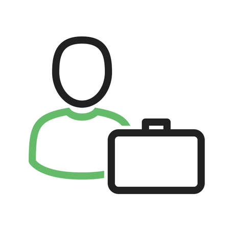 accountants: Accountant, coins, man, cash icon vector image.Can also be used for banking, finance, business. Suitable for web apps, mobile apps and print media.