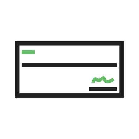 signed: Cheque, draft, signed icon vector image.Can also be used for banking, finance, business. Suitable for web apps, mobile apps and print media.