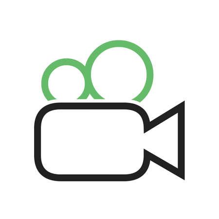 動画、画像、ムービー アイコン ベクトル画像。携帯電話と通信の使用もできます。Web アプリ、携帯アプリ、印刷媒体での使用に適しています。  イラスト・ベクター素材