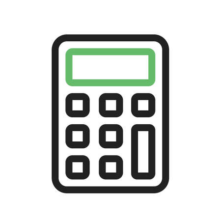 Calculator, sum, subtract icon vector image. Can also be used for phone and communication. Suitable for use on web apps, mobile apps and print media.