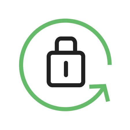 lock block: locked, display, settings icon vector image. Can also be used for phone and communication. Suitable for use on web apps, mobile apps and print media.