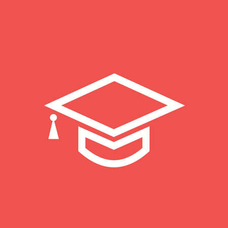 convocation: Graduation, hat, celebration, get- together icon vector image. Can also be used for education, academics and science. Suitable for use on web apps, mobile apps, and print media.