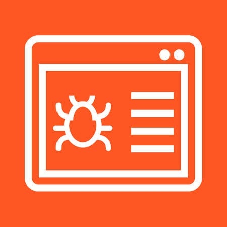 crawler: Browser, crawler, window, search icon vector image. Can also be used for seo, digital marketing, technology. Suitable for use on web apps, mobile apps and print media.