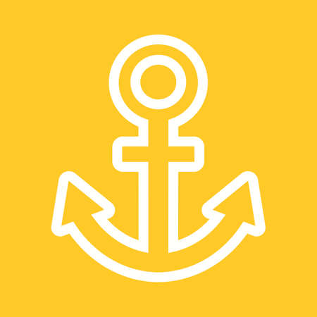 bulding: Anchor, link bulding, hold icon vector image. Can also be used for seo, digital marketing, technology. Suitable for use on web apps, mobile apps and print media. Illustration