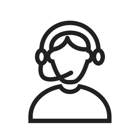 telemarketer: Call, center, operator icon vector image. Can also be used for professionals. Suitable for web apps, mobile apps and print media. Illustration