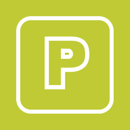 parking car: Sign, parking, car icon vectgor image. Can also be used for transport, transportation and travel. Suitable for mobile apps, web apps and print media. Illustration