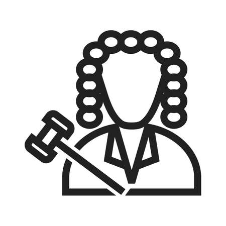 courtroom: Judge, courtroom, court icon vector image. Can also be used for professionals. Suitable for web apps, mobile apps and print media.