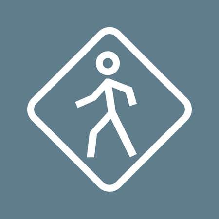 passage clout�: Pi�ton, corssing, passage pour pi�tons ic�ne image vectgor. Peut aussi �tre utilis� pour le transport, le transport et Voyage. Convient pour les applications mobiles, les applications Web et les m�dias imprim�s.