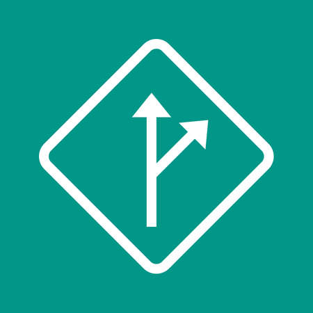 deviation: Signal, trail, arrow icon vectgor image. Can also be used for transport, transportation and travel. Suitable for mobile apps, web apps and print media.