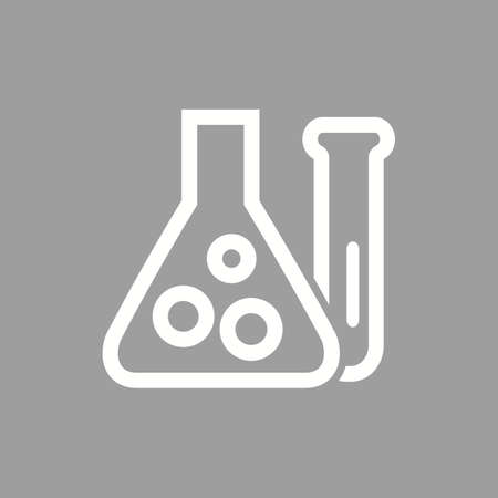 chemical reaction: Chemistry, scientific, analysis, chemical reaction icon vector image. Can also be used for education, academics and science. Suitable for use on web apps, mobile apps, and print media.