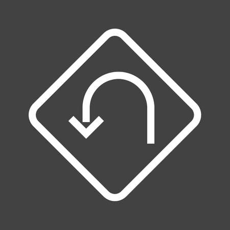 u turn: U turn, road, highway icon vectgor image. Can also be used for transport, transportation and travel. Suitable for mobile apps, web apps and print media.