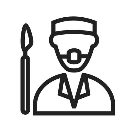 surgical mask: Surgeon, doctor, hospital icon vector image. Can also be used for professionals. Suitable for web apps, mobile apps and print media. Illustration