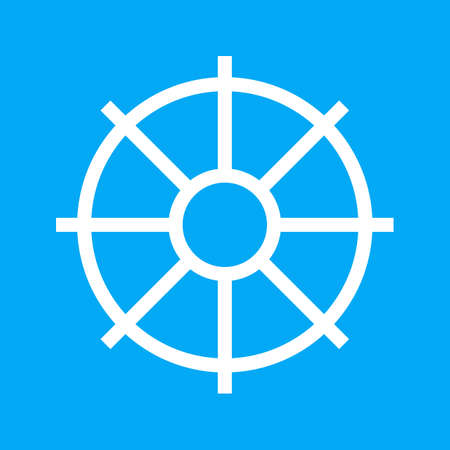 navigation icons: Wheel, tyre, ship icon vectgor image. Can also be used for transport, transportation and travel. Suitable for mobile apps, web apps and print media.