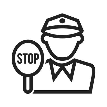 motorcycle officer: Police, traffic, cop icon vector image. Can also be used for professionals. Suitable for web apps, mobile apps and print media. Illustration