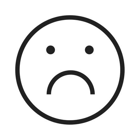 alone and sad: Sad, alone, upset icon vector image. Can also be used for emotions and halloween. Suitable for mobile apps, web apps and print media.