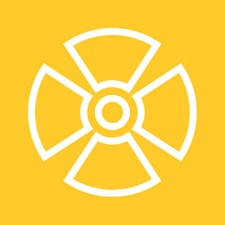radiation therapy: Radiation, radioactive, radio therapy icon vector image. Can also be used for healthcare and medical. Suitable for mobile apps, web apps and print media. Illustration