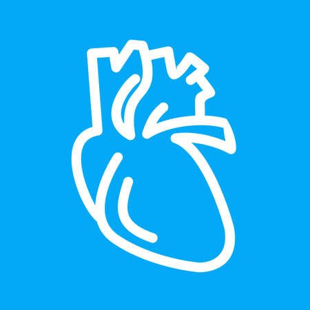 with aorta: Heart, human organ, organ, medical icon vector image. Can also be used for healthcare and medical. Suitable for mobile apps, web apps and print media. Illustration