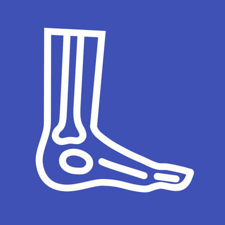 xray: Foot, xray, foot xray, ankle icon vector image. Can also be used for healthcare and medical. Suitable for mobile apps, web apps and print media.