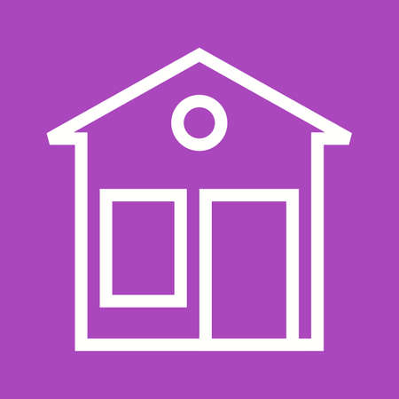 an exterior: House, building, exterior icon vector image. Can also be used for construction, interiors and building. Suitable for use on web apps, mobile apps and print media. Illustration