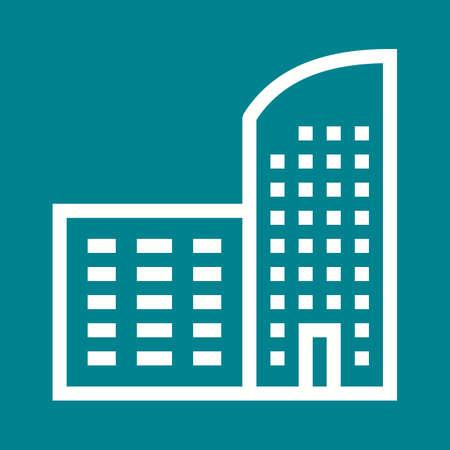 콘도: Building, office, home icon vector image. Can also be used for construction, interiors and building. Suitable for use on web apps, mobile apps and print media.