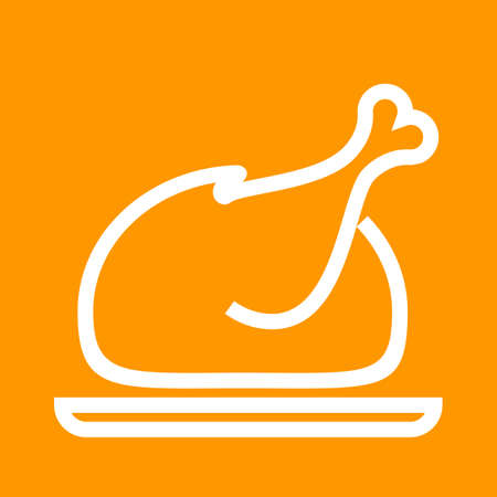 roasted turkey: Chicken, roasted, turkey icon vector image. Can also be used for eatables, food and drinks. Suitable for use on web apps, mobile apps and print media Illustration