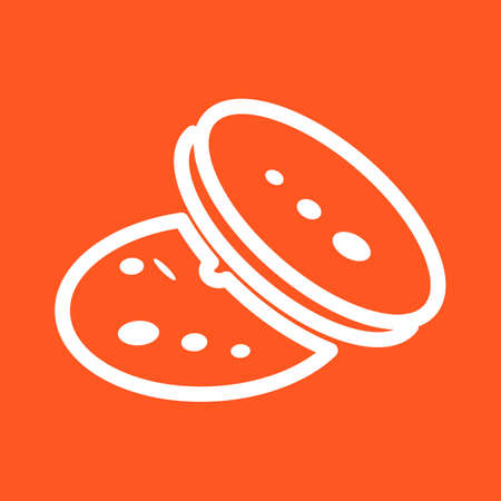 eatables: Cookie, cookies, chocolate icon vector image. Can also be used for eatables, food and drinks. Suitable for use on web apps, mobile apps and print media