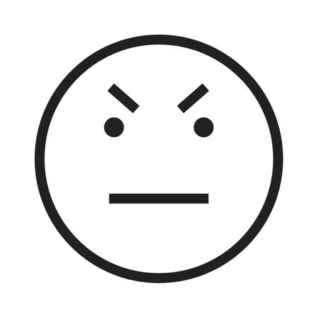 emotional pain: Angry, boss, job icon vector image. Can also be used for emotions and halloween. Suitable for mobile apps, web apps and print media.