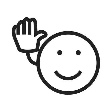 さようなら、さようなら、アイコンのベクトル画像を見る。感情やハロウィーンの使用もできます。携帯アプリ、web アプリ、印刷メディアに適して