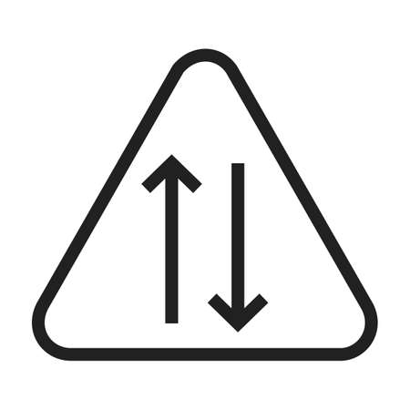 two way traffic: Way, sign, highway icon vector image. Can also be used for traffic signs. Suitable for web apps, mobile apps and print media.