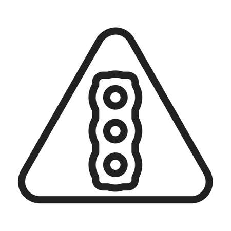 highway sign: Light, traffic, signal icon vector image. Can also be used for traffic signs. Suitable for web apps, mobile apps and print media. Illustration