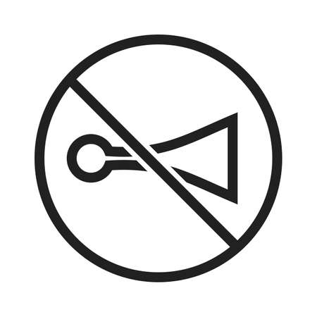 No, horn, sign icon vector image. Can also be used for traffic signs. Suitable for web apps, mobile apps and print media.