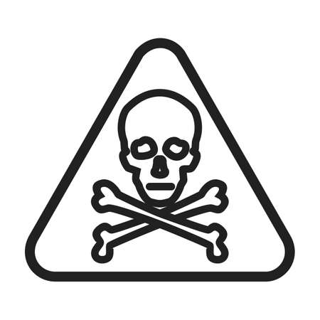 risks ahead: Danger, sign, warning icon vector image. Can also be used for traffic signs. Suitable for web apps, mobile apps and print media.