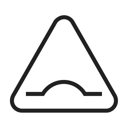 road warning sign: Road, warning, sign icon vector image. Can also be used for traffic signs. Suitable for web apps, mobile apps and print media.