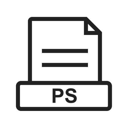 ps: PS, file, presentation icon vector image. Can also be used for file format, design and storage. Suitable for mobile apps, web apps and print media.