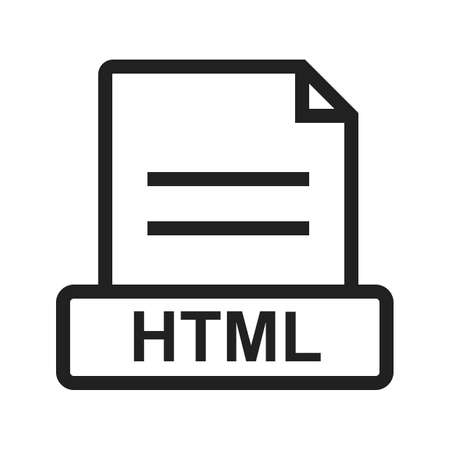htm: HTML, file, extension icon vector image. Can also be used for file format, design and storage. Suitable for mobile apps, web apps and print media.