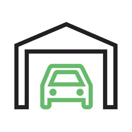 parking garage: Car garage parking icon