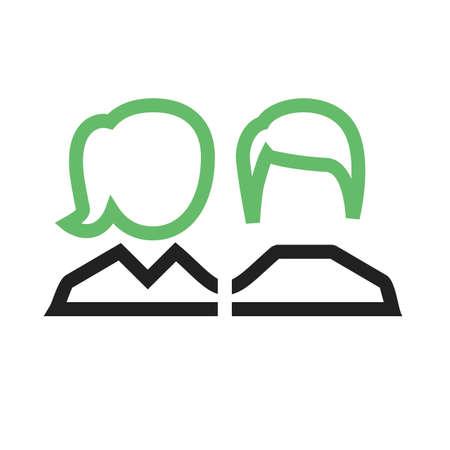 financial advisors: client icon Illustration