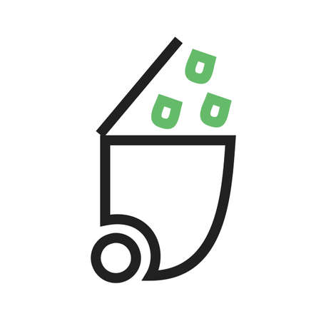 waste basket: Recycle bin, recycling, trash icon Illustration